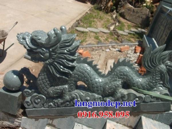 Mẫu rồng nhà thờ họ từ đường đình đền chùa miếu bằng đá xanh rêu tại Trà Vinh