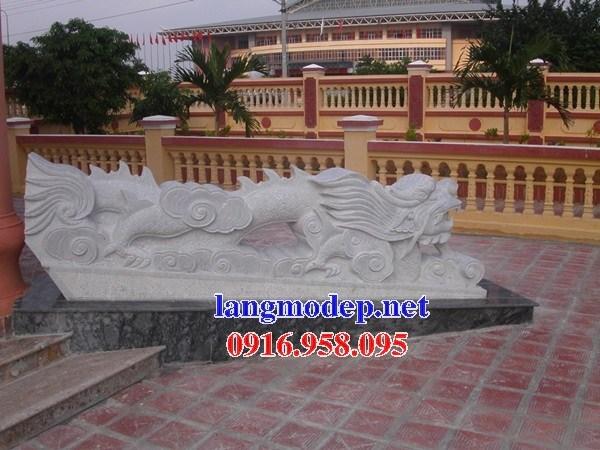 Mẫu rồng từ đường nhà thờ họ đình đền chùa miếu bằng đá trắng cao cấp tại Tiền Giang