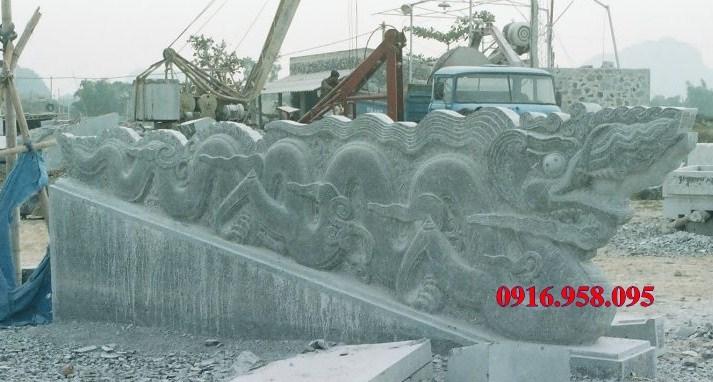 Mẫu rồng từ đường nhà thờ họ đình chùa miếu bằng đá Thanh Hóa tại Ninh Bình