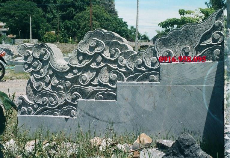 Mẫu rồng từ đường nhà thờ họ đình chùa miếu bằng đá chạm khắc tinh xảo tại Ninh Bình