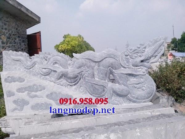 Mẫu rồng từ đường nhà thờ họ đình chùa miếu bằng đá mỹ nghệ tại Ninh Bình