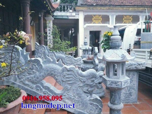 Mẫu rồng từ đường nhà thờ họ đình chùa miếu bằng đá tại Ninh Bình