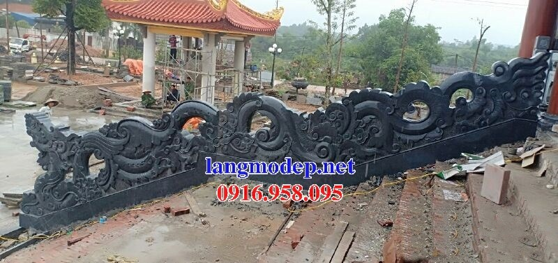 Mẫu rồng từ đường nhà thờ họ đình chùa miếu bằng đá tự nhiên cao cấp tại Ninh Bình
