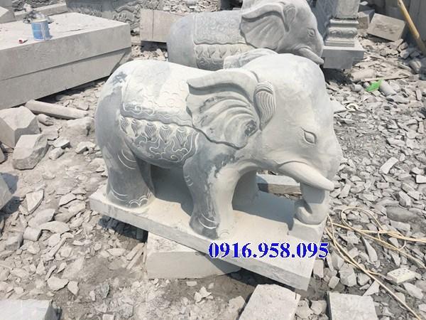 Mẫu voi phong thủy hà thờ họ từ đường đình đền chùa miếu bằng đá tại Cao Bằng