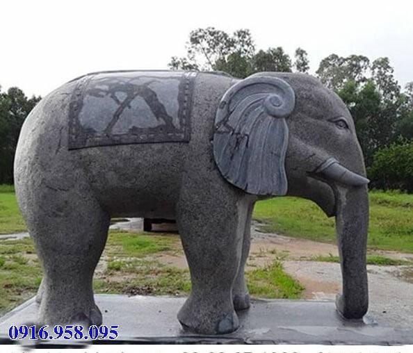 Mẫu voi phong thủy hà thờ họ từ đường đình đền chùa miếu bằng đá tự nhiên tại Cao Bằng