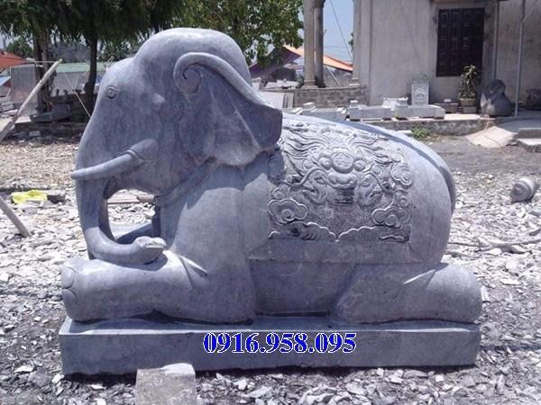 Mẫu voi phong thủy hà thờ họ từ đường đình đền chùa miếu bằng đá xanh tại Cao Bằng
