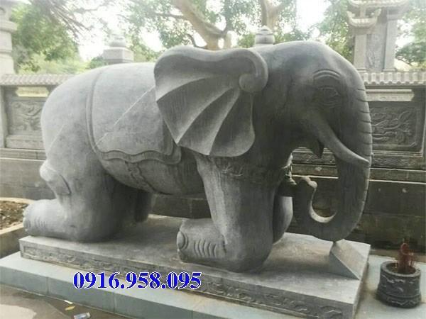 Mẫu voi phong thủy nhà thờ họ đình đền chùa miếu bằng đá tại Hậu Giang