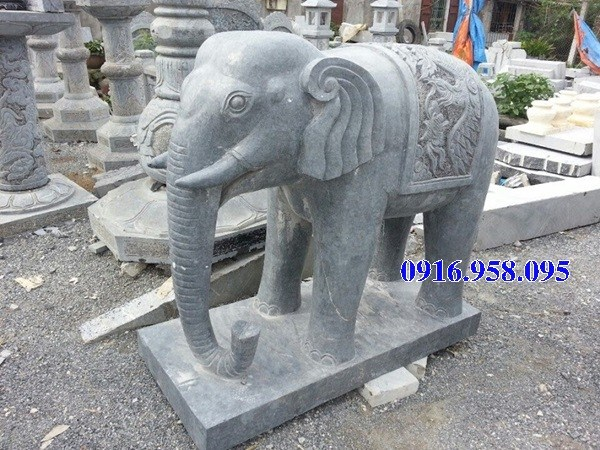 Mẫu voi phong thủy nhà thờ họ từ đường đình đền chùa miếu bằng đá Ninh Bình tại Đồng Tháp