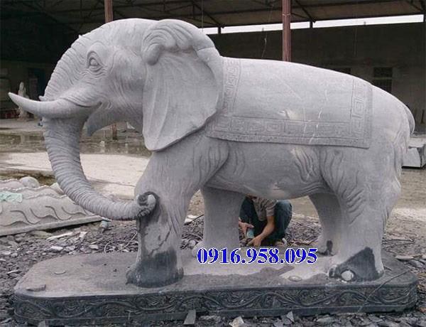 Mẫu voi phong thủy nhà thờ họ từ đường đình đền chùa miếu bằng đá Ninh Bình tại Kiên Giang