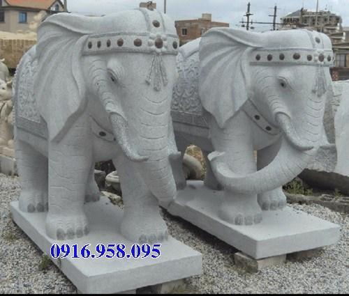 Mẫu voi phong thủy nhà thờ họ từ đường đình đền chùa miếu bằng đá Ninh Bình tại Tiền Giang