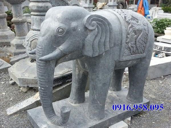Mẫu voi phong thủy nhà thờ họ từ đường đình đền chùa miếu bằng đá Thanh Hóa tại Kiên Giang