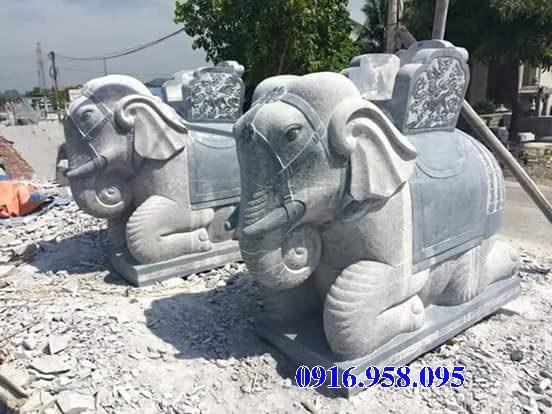 Mẫu voi phong thủy nhà thờ họ từ đường đình đền chùa miếu bằng đá tại Đồng Tháp