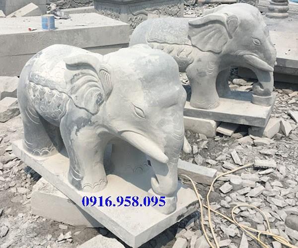 Mẫu voi phong thủy nhà thờ họ từ đường đình đền chùa miếu bằng đá tại Kiên Giang