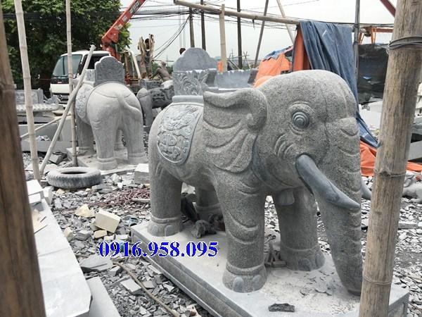 Mẫu voi phong thủy nhà thờ họ từ đường đình đền chùa miếu bằng đá tại Tiền Giang