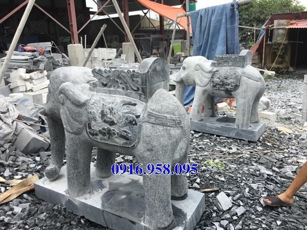 Mẫu voi phong thủy nhà thờ họ từ đường đình đền chùa miếu bằng đá tự nhiên tại Kiên Giang