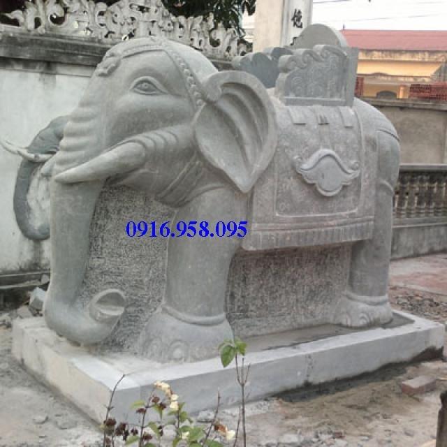 Mẫu voi phong thủy nhà thờ họ từ đường đình đền chùa miếu bằng đá thiết kế đẹp tại Tiền Giang