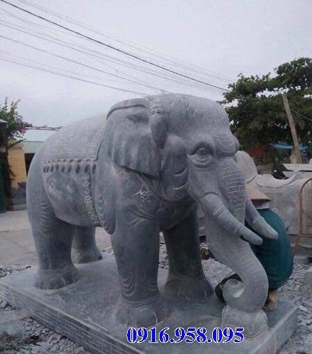 Mẫu voi phong thủy nhà thờ họ từ đường bằng đá tại Tiền Giang