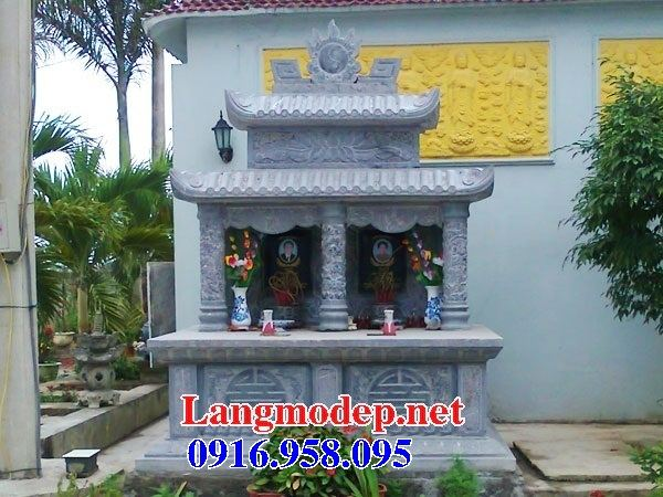 Mẫu mộ đá đôi bán tại Tiền Giang