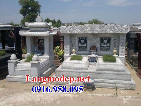 Mẫu mộ đá đôi gia đình tại Đồng Nai