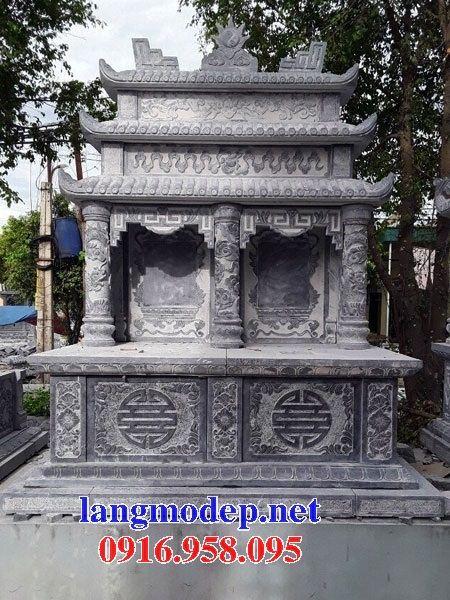 Mẫu mộ đôi bằng đá tại Bạc Liêu