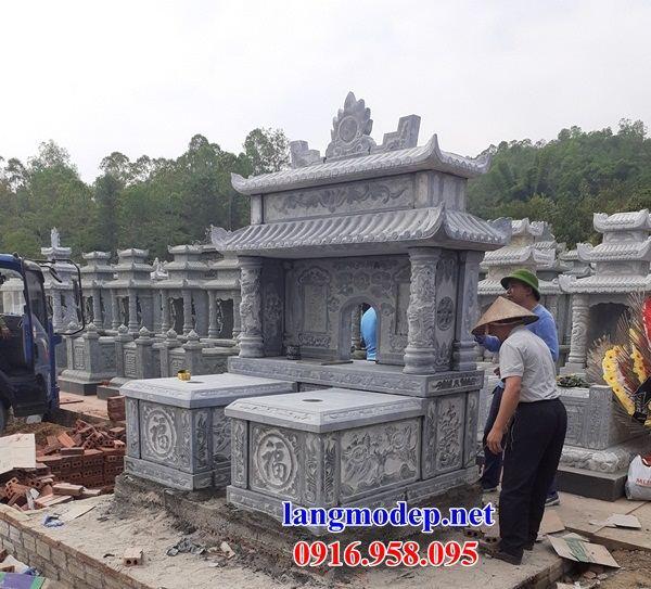 Mẫu mộ đôi gia đình bằng đá bán tại Bình Phước