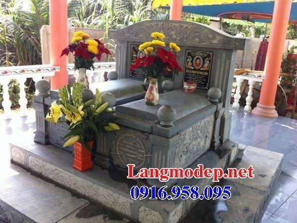Mẫu mộ đôi gia đình bằng đá tại Kiên Giang
