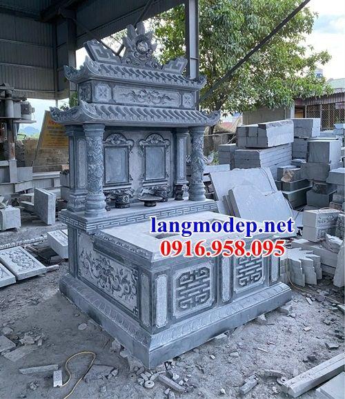Mẫu mộ đôi gia đình hai mái bằng đá mỹ nghệ Ninh Bình tại An Giang