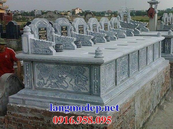 Mẫu mộ đôi gia đình không mái bằng đá điêu khắc long phụng bán tại Bà Rịa Vũng Tàu
