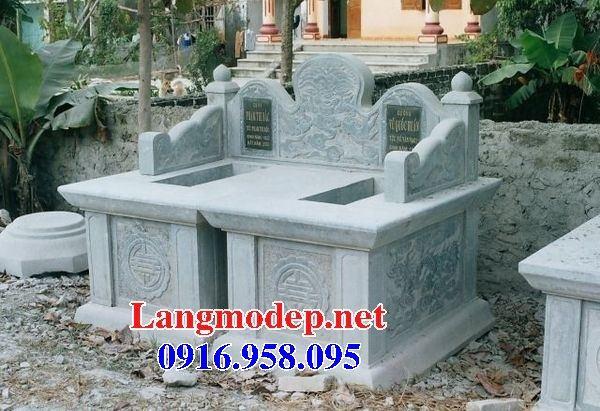 Mẫu mộ đôi gia đình không mái bằng đá cất để tro hài cốt hỏa táng bán tại Sóc Trăng