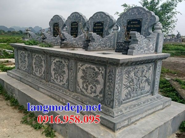 Mẫu mộ đôi gia đình không mái bằng đá chạm trổ tứ quý bán tại Cao Bằng