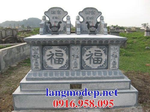 Mẫu mộ đôi gia đình không mái bằng đá nguyên khối bán tại Bà Rịa Vũng Tàu