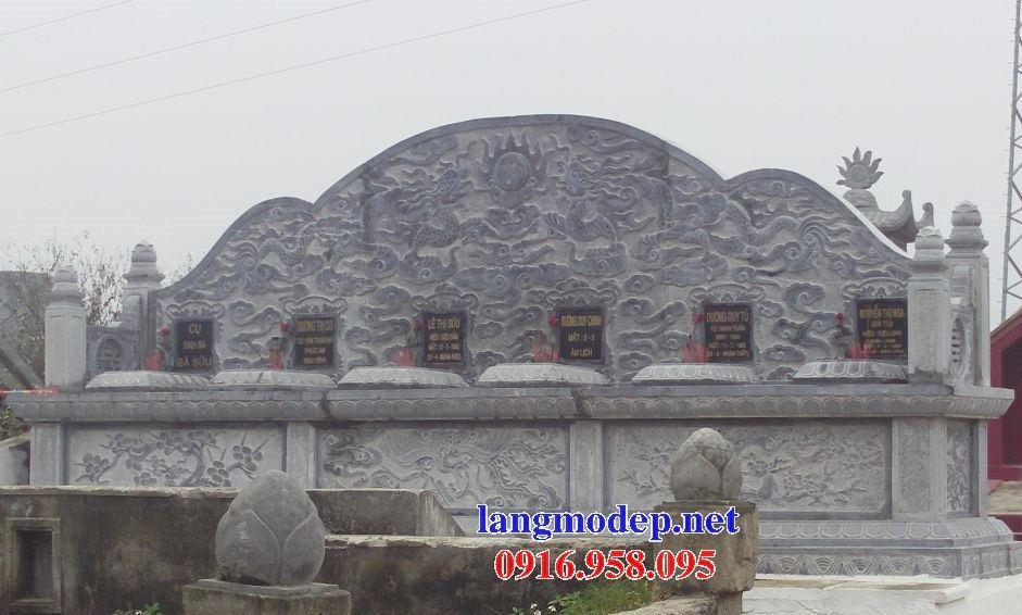 Mẫu mộ đôi gia đình không mái bằng đá sáu ngôi kề nhau bán tại Bình Phước