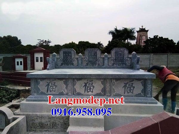 Mẫu mộ đôi gia đình không mái bằng đá tự nhiên bán tại Bà Rịa Vũng Tàu