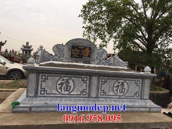 Mẫu mộ đôi gia đình không mái bằng đá tự nhiên nguyên khối bán tại Cao Bằng