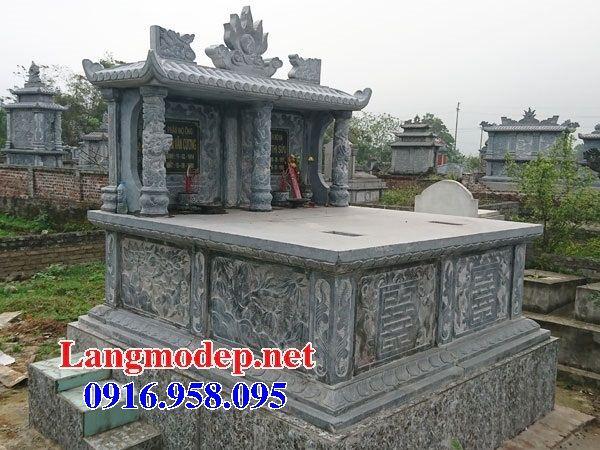 Mẫu mộ đôi gia đình một mái bằng đá cất để tro hài cốt hỏa táng bán tại Trà Vinh