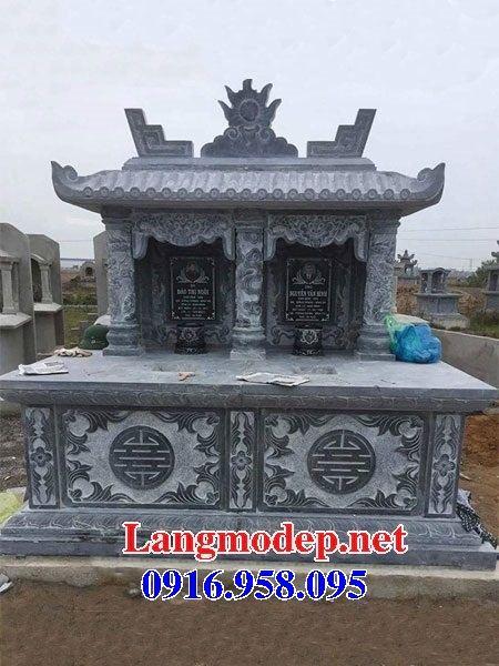 Mẫu mộ đôi gia đình một mái bằng đá mỹ nghệ Ninh Bình bán tại Sóc Trăng