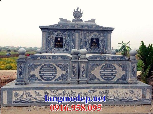 Mẫu mộ đôi gia đình một mái bằng đá mỹ nghệ Ninh Bình tại Đồng Tháp