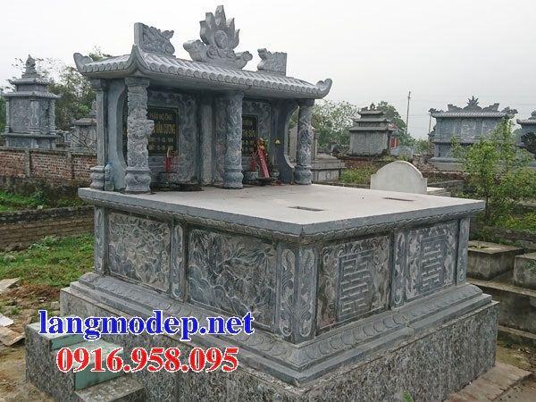 Mẫu mộ đôi gia đình một mái bằng đá thiết kế đẹp bán tại Cao Bằng
