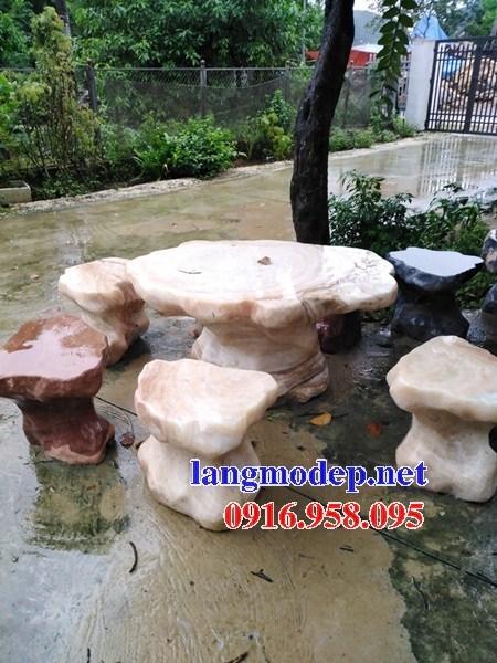 10 Bộ bàn ghế đá vàng đẹp bán chạy đơn giản