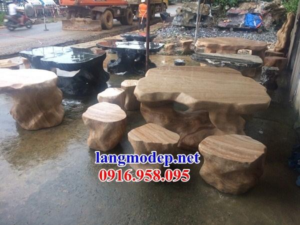 10 Bộ bàn ghế đá vàng đẹp bán chạy giá rẻ