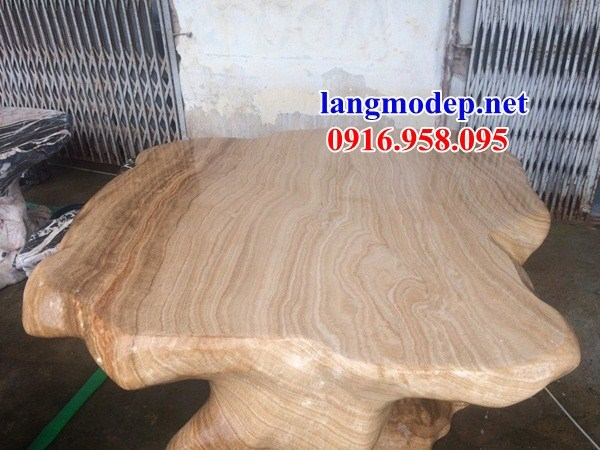 8 Bộ bàn ghế ngoài sân bằng đá vân gỗ đẹp