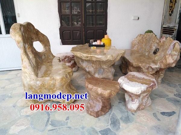 9 Bộ bàn ghế sân vườn bằng đá đẹp bán toàn quốc