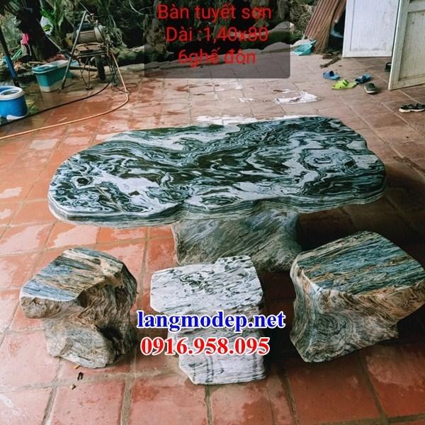 9 Bộ bàn ghế sân vườn bằng đá ngọc bích đẹp