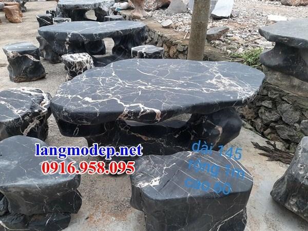 9 Bộ bàn ghế sân vườn bằng đá thanh hóa đẹp