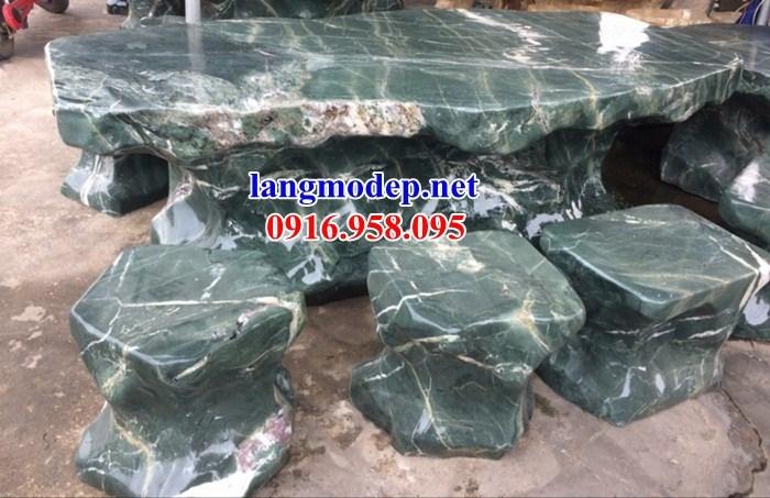 9 Bộ bàn ghế sân vườn bằng đá xanh đẹp