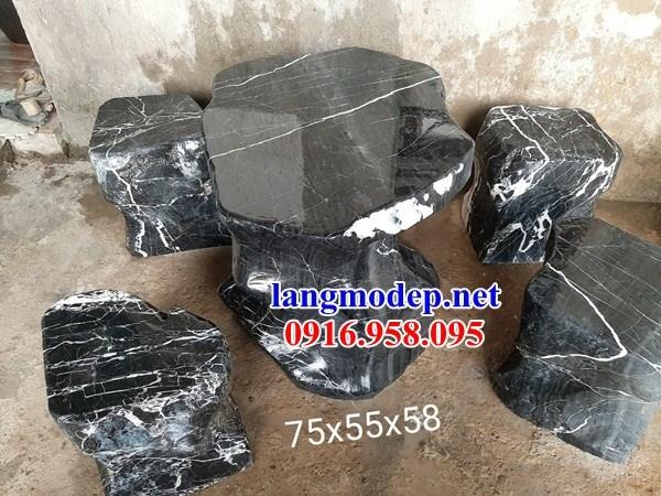 9 Bộ bàn ghế sân vườn bằng đá xanh đen đẹp