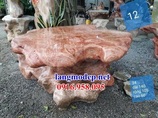 Bàn ghế đá cẩm thạch tự nhiên nguyên khối đẹp giá rẻ