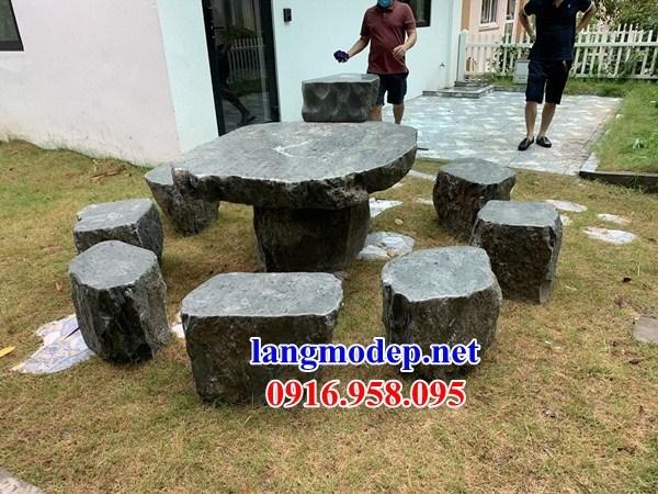 Bàn ghế đá nguyên khối đẹp giá rẻ bán toàn quốc