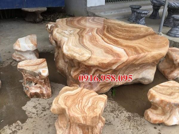 Bàn ghế đá nguyên khối đẹp giá rẻ