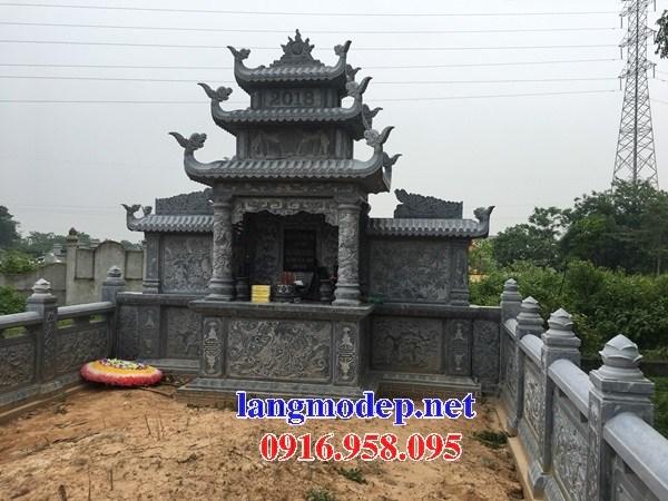 Cây hương thờ chung nghĩa trang gia đình dòng họ bằng đá xanh Thanh Hóa tại Cà Mau